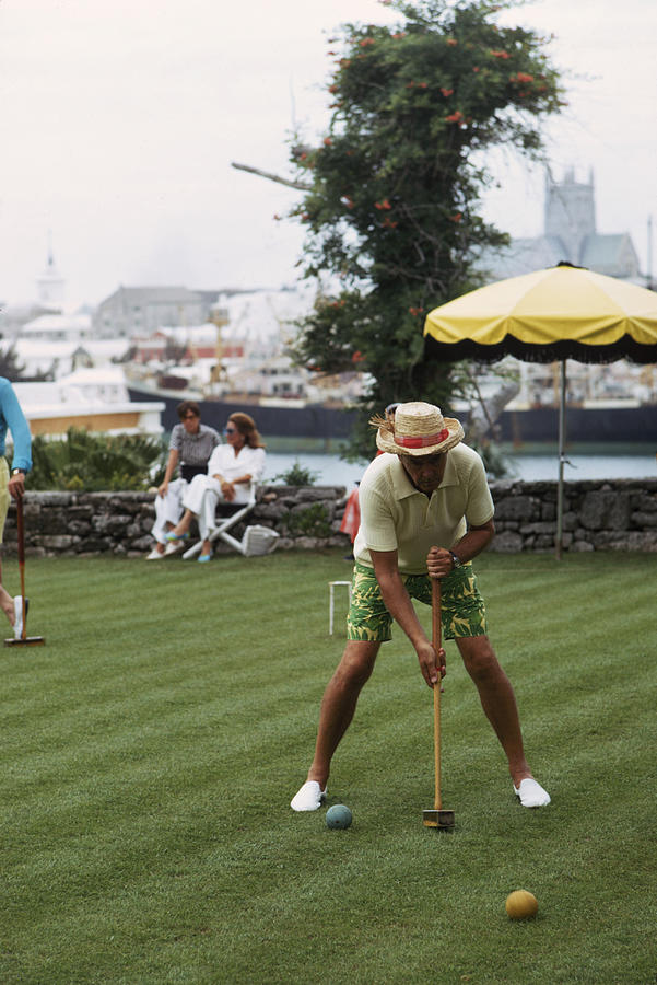 Croquet Photograph by Slim Aarons