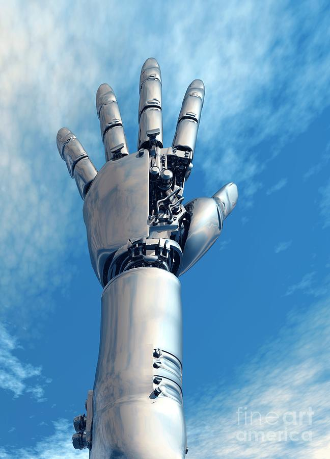 Cybernetic Arm, Artwork Digital Art by Victor Habbick Visions