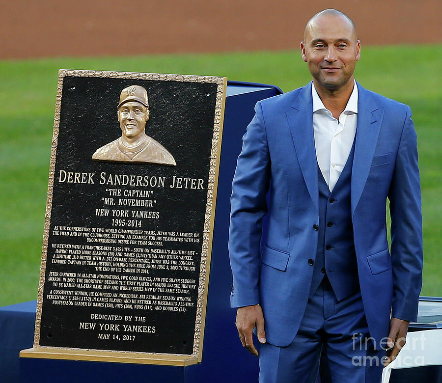 Derek Jeter Ceremony 3 Photograph by Rich Schultz