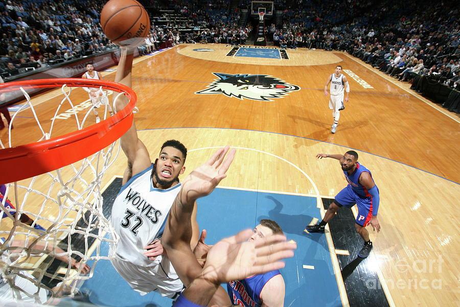 Detroit Pistons V Minnesota Timberwolves Photograph by David Sherman
