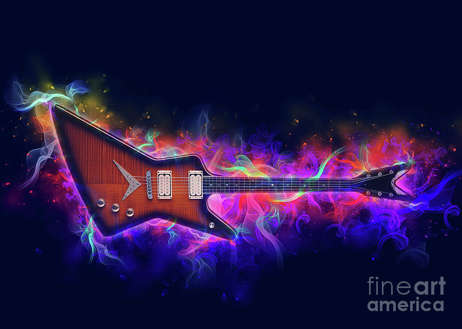 Electric Guitar Art by Ian Mitchell