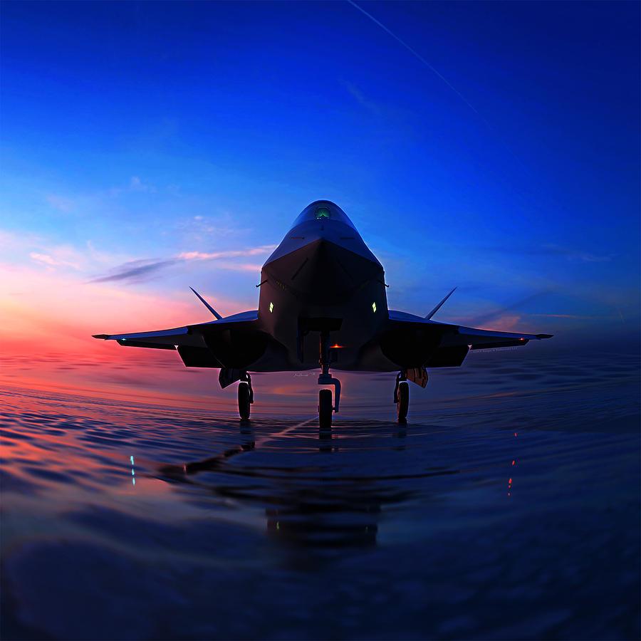 Black Widow Digital Art - F-23A Black Widow II by Hangar B Productions