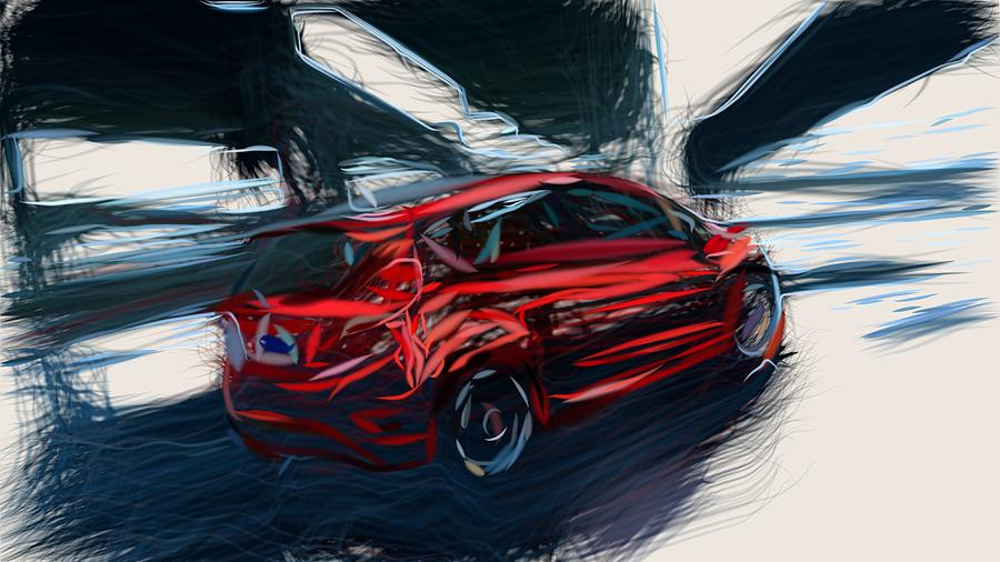 Ford Fiesta St Drawing By Carstoon Concept