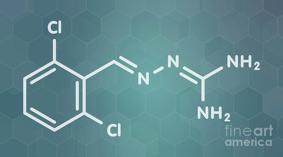 Agonist Photograph - Guanabenz Antihypertensive Drug Molecule by Molekuul/science Photo Library
