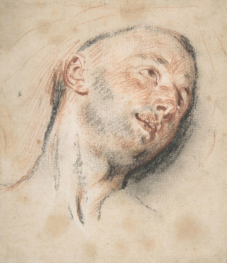 Head of a Man by Antoine Watteau
