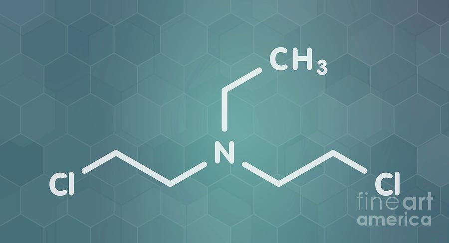 Nitrogen Photograph - Hn1 Nitrogen Mustard Molecule by Molekuul/science Photo Library