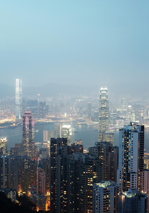 Hong Kong Skyline And Victoria Harbour 3 Photograph by Gary Yeowell