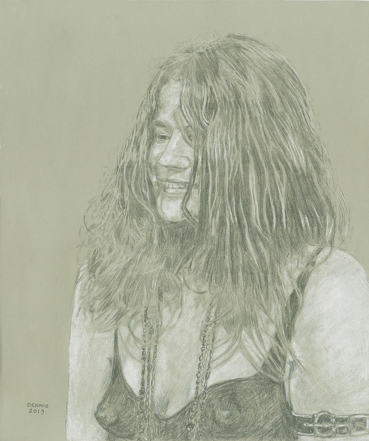 It's just a picture of Shocking Janis Joplin Drawing