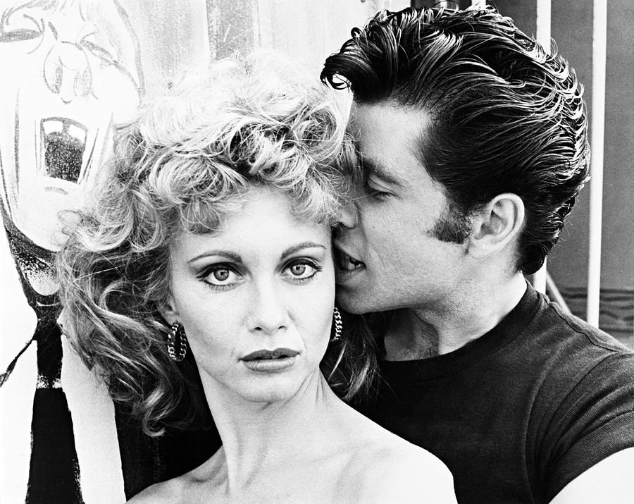 John Travolta And Olivia Newton John In Grease 1978 Photograph By Album