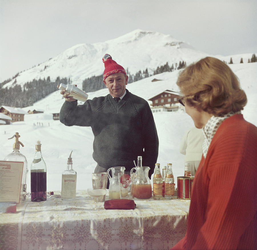 Lech Ice Bar Photograph by Slim Aarons