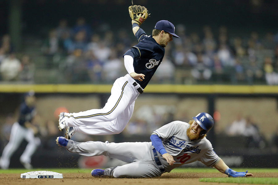 Los Angeles Dodgers V Milwaukee Brewers Photograph by Mike Mcginnis