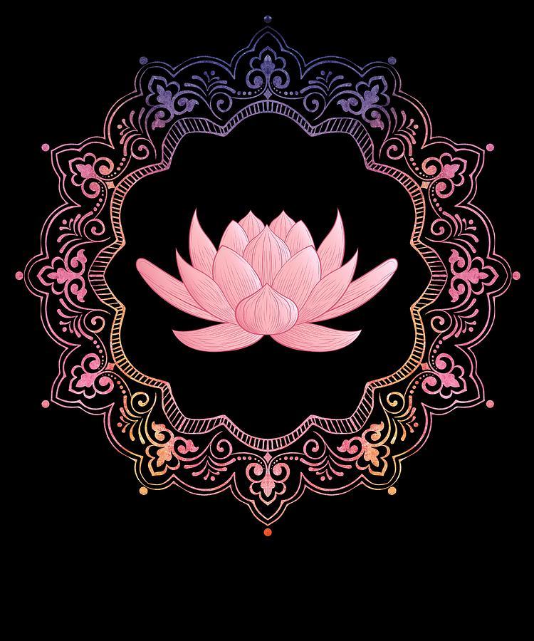 Lotus Mandala Spiritual Om New Age Buddhist Yoga Meditation Digital