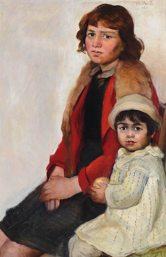 1935 Painting - Madre E Figlia by MotionAge Designs