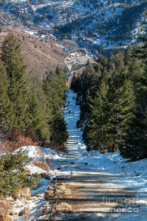 Manitou Incline In Winter Photograph