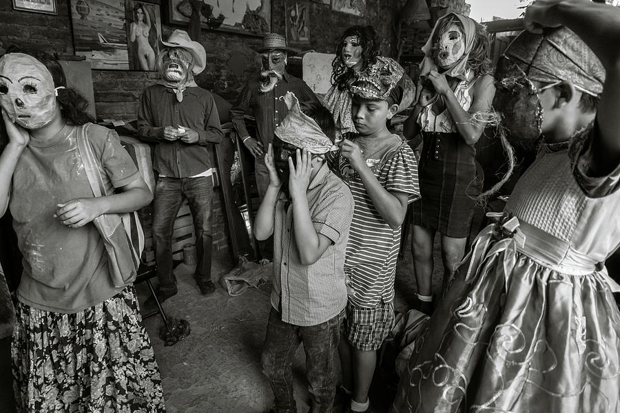 Masks Photograph - Masked Zayacos in Mexico by Dane Strom