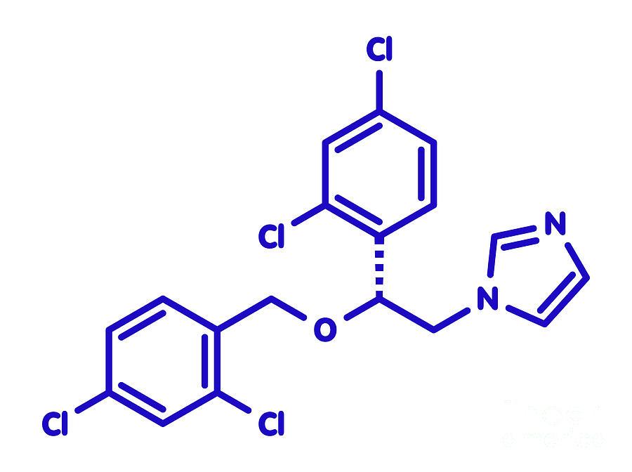 Antifungal Photograph - Miconazole Antifungal Drug Molecule by Molekuul/science Photo Library