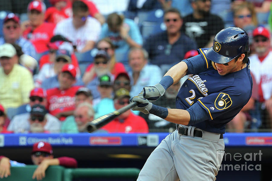 Milwaukee Brewers V Philadelphia Photograph by Rich Schultz