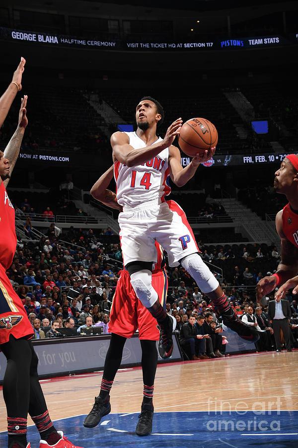 New Orleans Pelicans V Detroit Pistons Photograph by Chris Schwegler