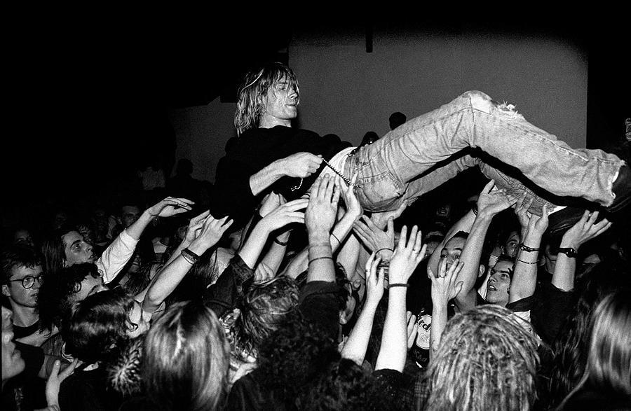 Nirvana Perform Live In Frankfurt Photograph by Paul Bergen