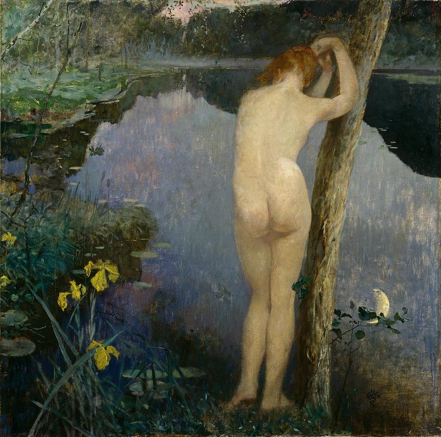 Eilif Peterssen Painting - Nocturne  by Eilif Peterssen