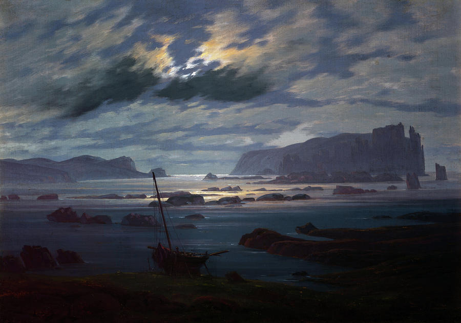 Northern Sea in the Moonlight  by Caspar David Friedrich