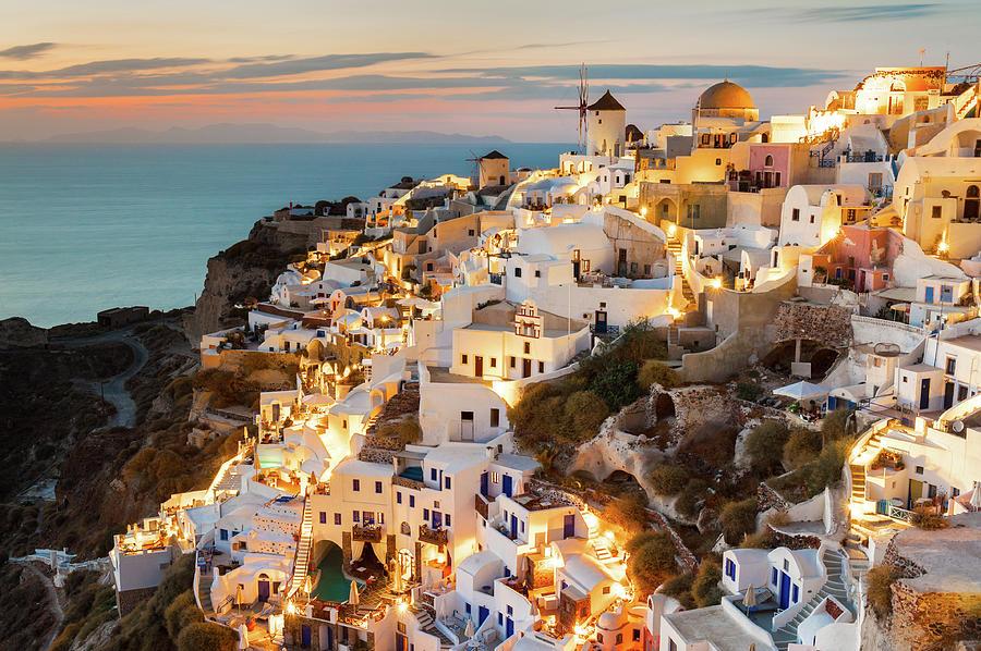 Oia Sunset, Santorini, Greece Photograph by Chrishepburn