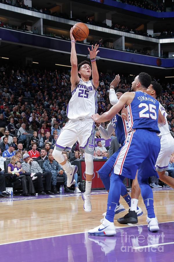 Philadelphia 76ers V Sacramento Kings Photograph by Rocky Widner