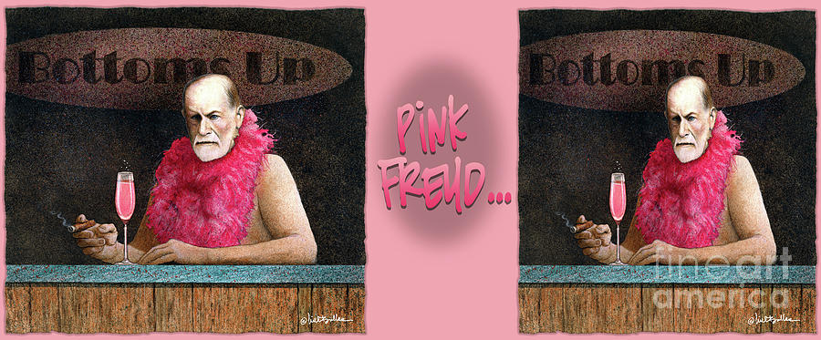 Humor Painting - Pink Freud... 3 by Will Bullas