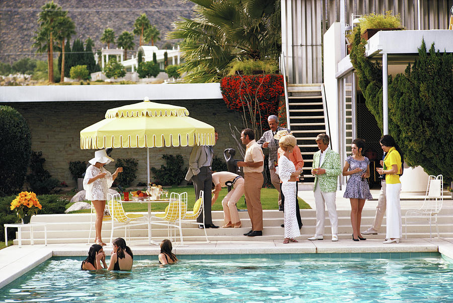 Poolside Party Photograph by Slim Aarons