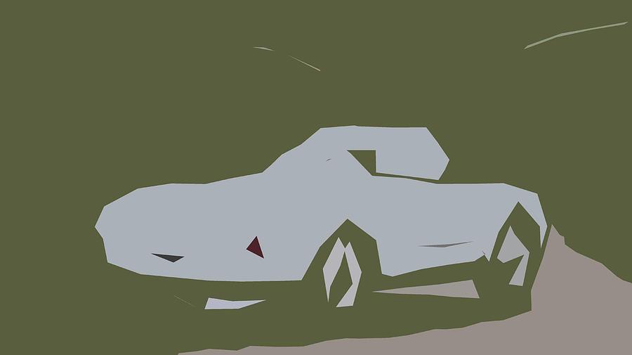 Car Digital Art - Porsche 550 Spyder Abstract Design by CarsToon Concept