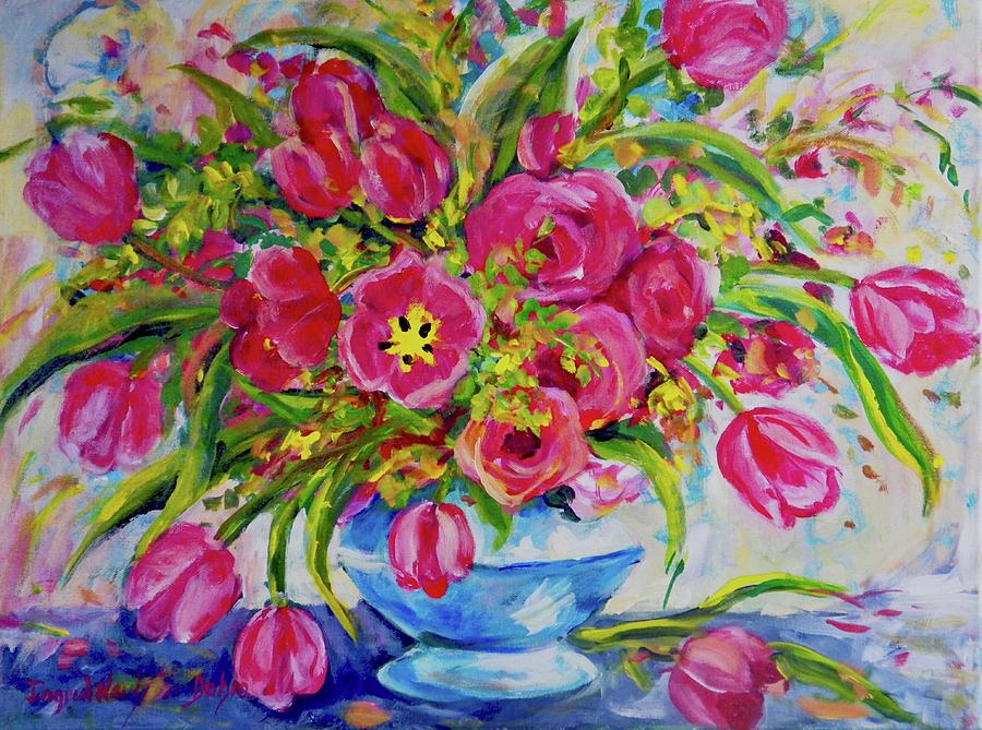 Red Tulips by Ingrid Dohm