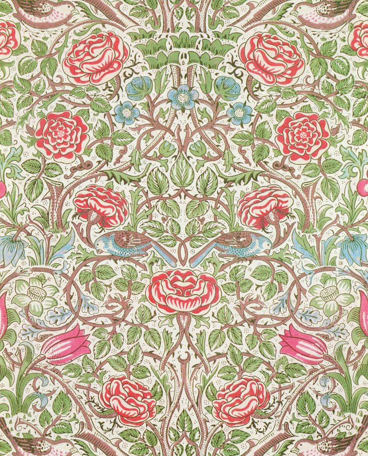 Roses Painting - Roses - Digital Remastered Edition by William Morris