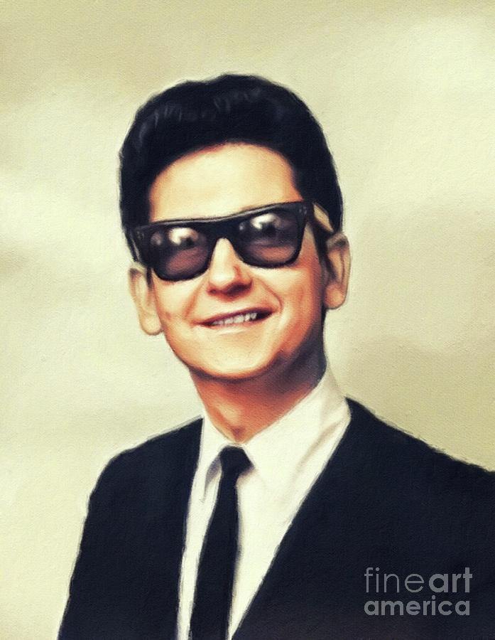 Roy Painting - Roy Orbison, Music Legend by John Springfield