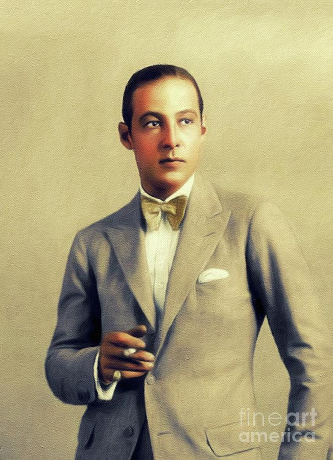 Rudolph Painting - Rudolph Valentino, Vintage Actor by John Springfield