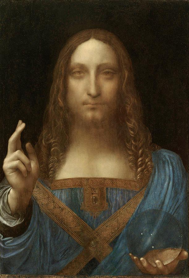 Da Vinci Painting - Salvator Mundi by Leonardo da Vinci