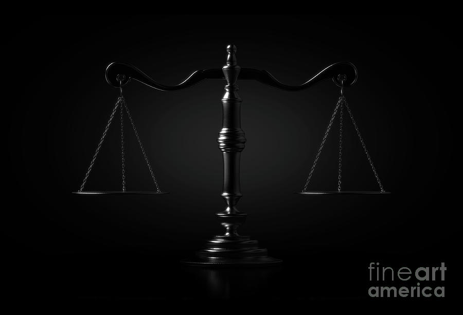 Scale Digital Art - Scales Of Justice Dramatic by Allan Swart