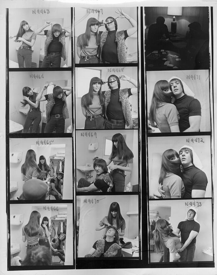 Sonny & Cher Portrait Session Photograph by Michael Ochs Archives