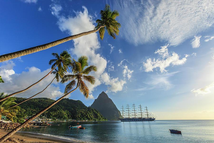 Soufrière Bay, Saint Lucia Photograph by Flavio Vallenari