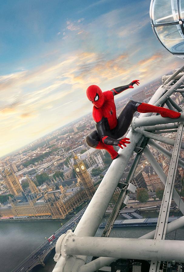 Spider Man Digital Art - Spider-man Far From Home by Geek N Rock