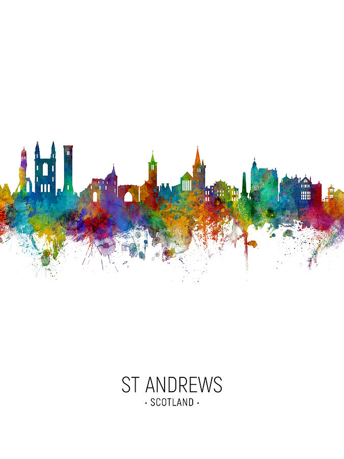St Andrews Scotland Skyline by Michael Tompsett