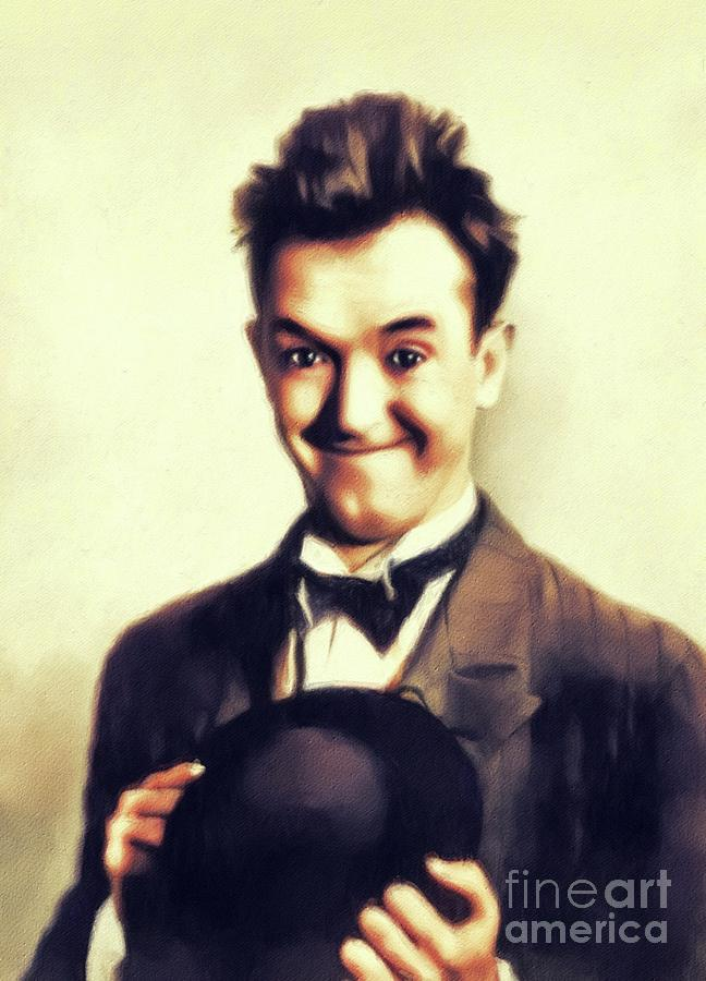 Stan Painting - Stan Laurel, Hollywood Legend by John Springfield