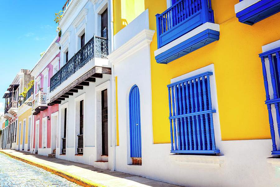 Street Photograph - Streets Of San Juan - Puerto Rico by Lorrie Joaus