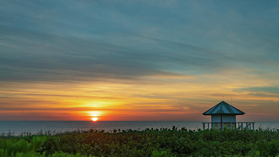 Sunrise Lifeguard Station Delray Beach Florida by Lawrence S Richardson Jr