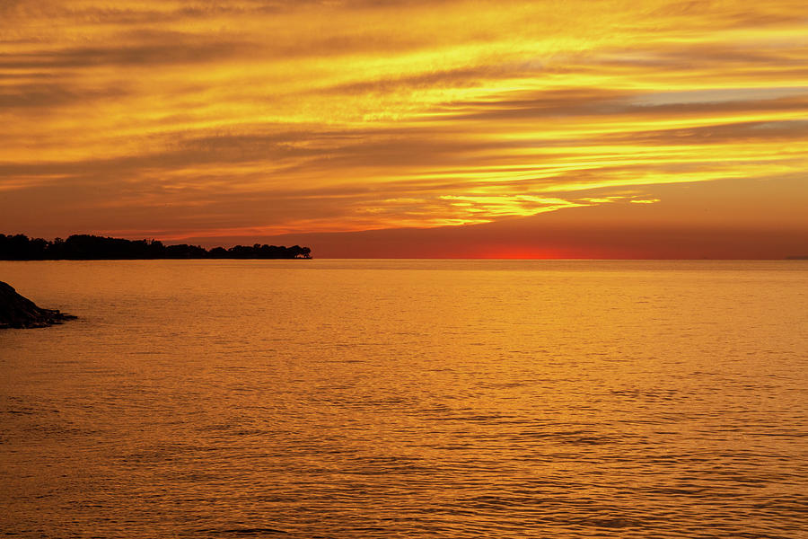 Sunset Lake Ontario by Jack R Perry