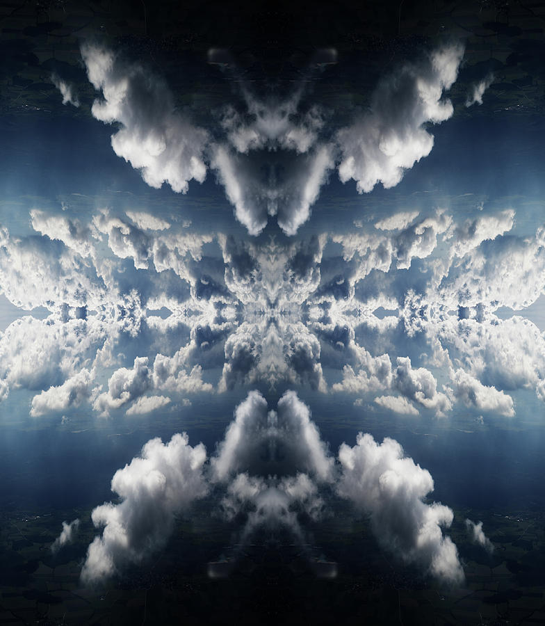 Surreal Rorschach Collage Of Dramatic Photograph by Silvia Otte