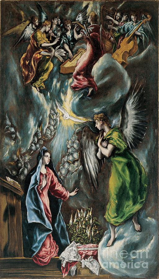 The Annunciation Drawing by Heritage Images