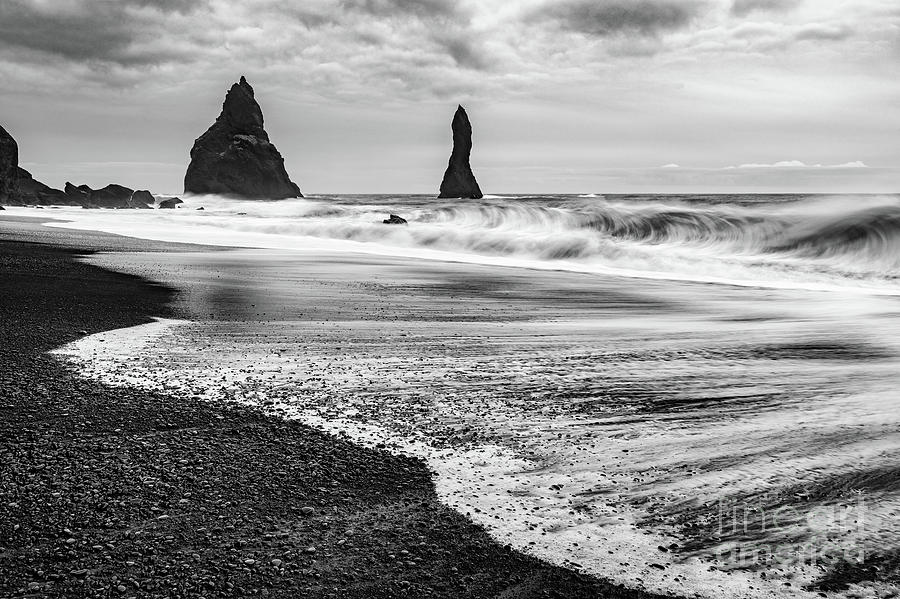 Iceland Photograph - The Dramatic Black Sand Beach Of Reynisfjara. by Jamie Pham