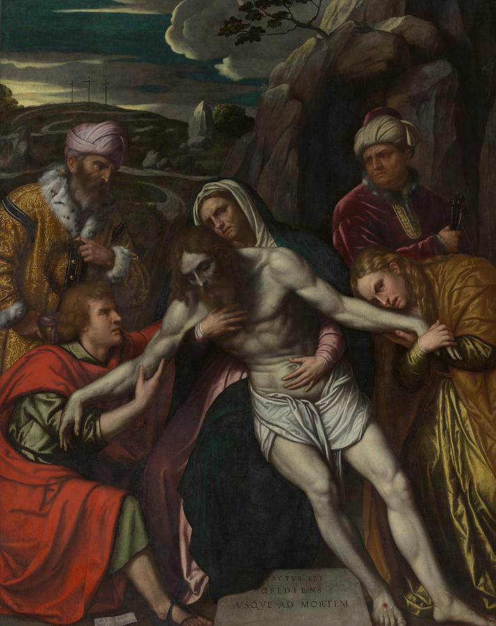 The Entombment by Moretto da Brescia