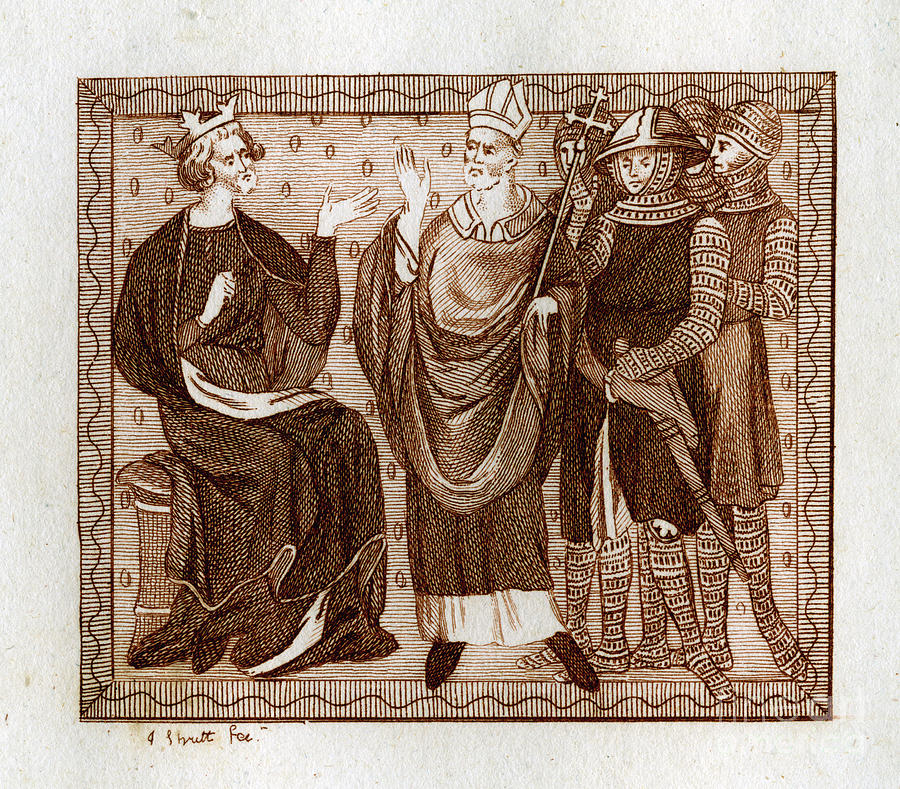 The Life Of Thomas Becket, 1801.artist Drawing by Print Collector