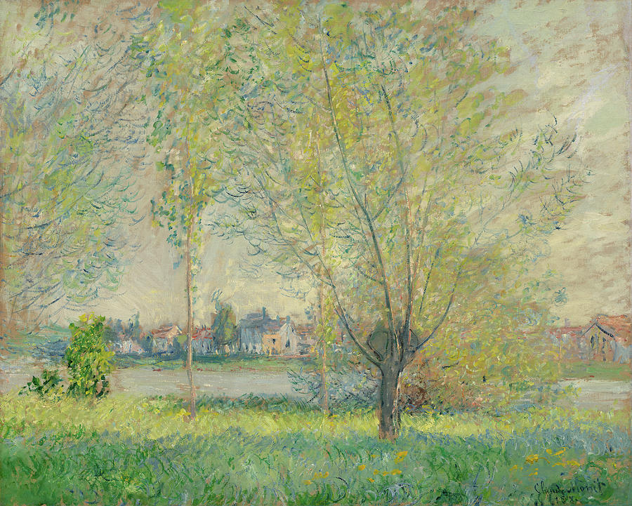 The Willows Painting by Claude Monet